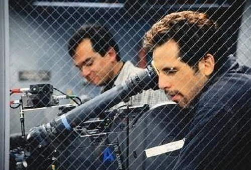 Ben Stiller behind the camera directing The Cable Guy