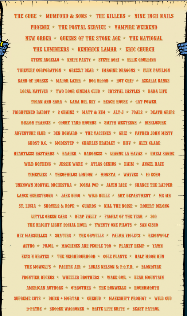 lolla 2013 lineup