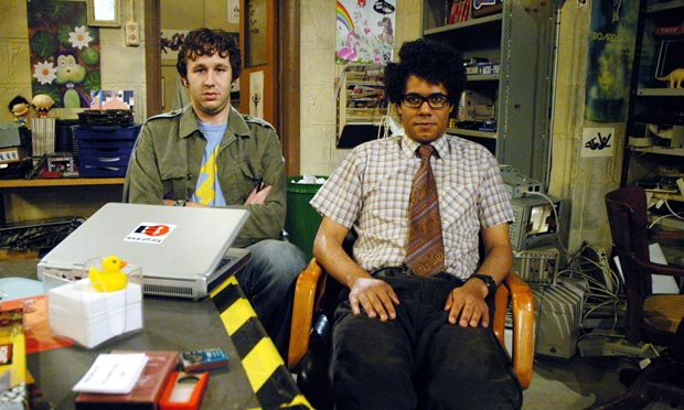 Chris O'Dowd as Roy and Richard Ayoade as Moss in The IT Crowd. Photograph: Channel 4
