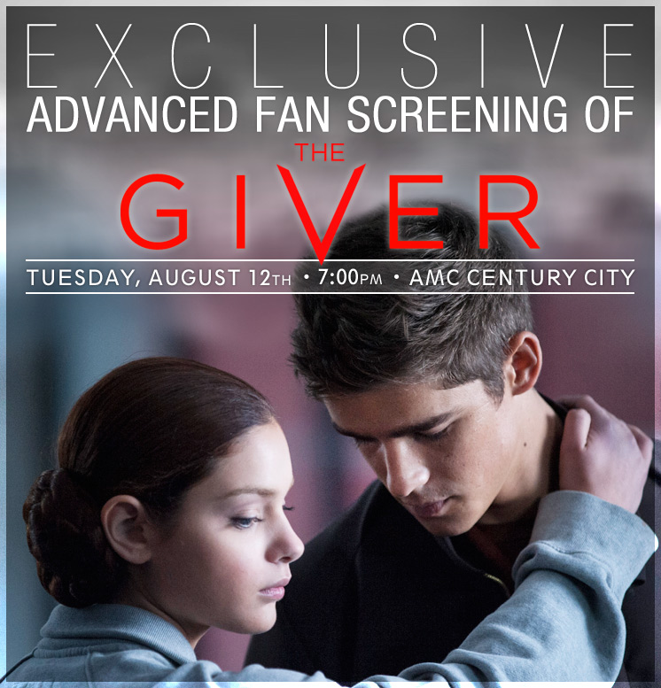 the giver fan screening giveaway win free tickets the young folks
