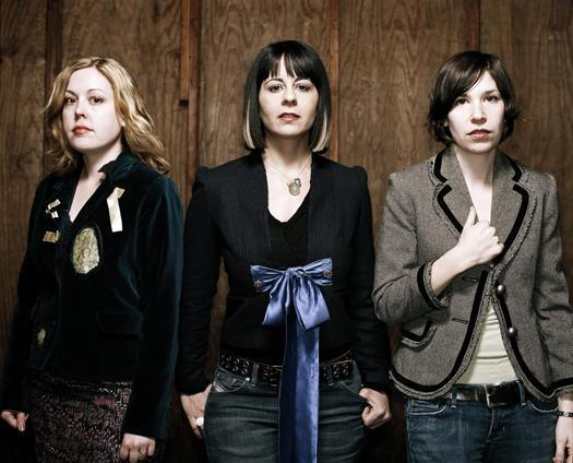 Sleater-Kinney: (L-R) Corin Tucker, Janet Weiss, Carrie Brownstein