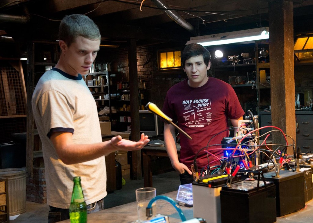 Jonny Weston (left) in Project Almanac