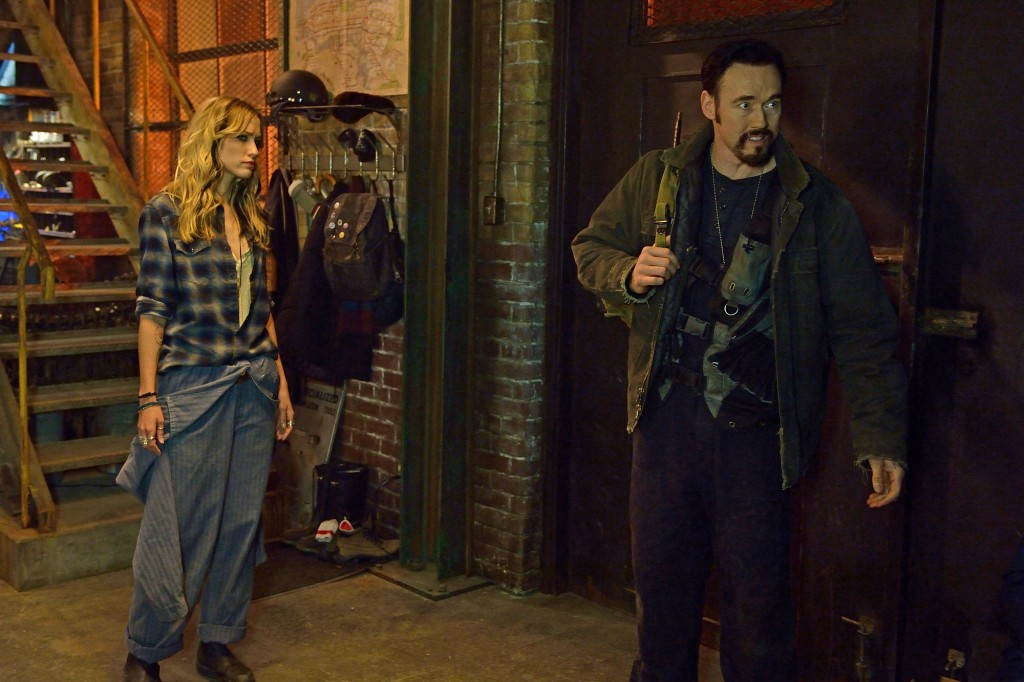 "THE STRAIN -- ""BK, NY"" -- Episode 201 (Airs July 12, 10:00 pm e/p) Pictured: (l-r) Ruta Gedmintas as Dutch Velders, Kevin Durand as Vasily Fet. CR: Michael Gibson/FX"