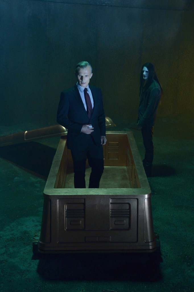 """THE STRAIN -- """"By Any Means"""" -- Episode 202 (Airs July 19, 10:00 pm e/p) Pictured: (l-r) Richard Sammel as Thomas Eichhorst, Jack Kesy as Bolivar. CR: Michael Gibson/FX"""