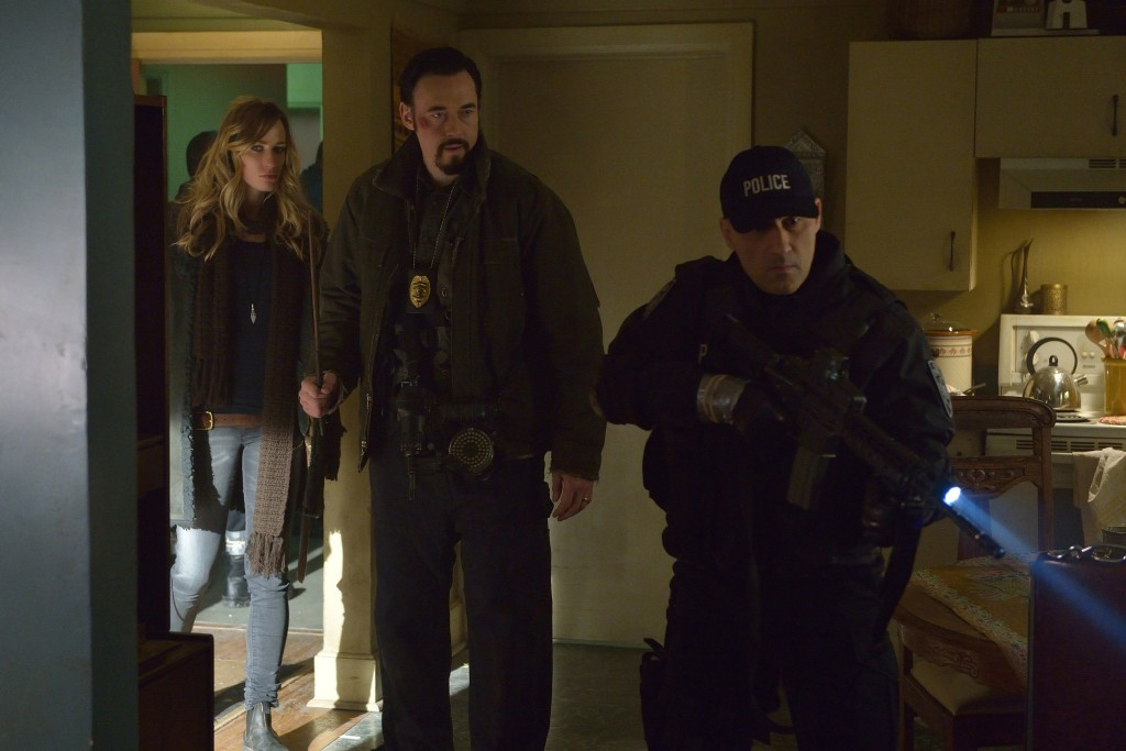 "THE STRAIN -- ""Quick and Painless"" -- Episode 205 (Airs August 9, 10:00 pm e/p) Pictured: (l-r) Ruta Gedmintas as Dutch Velders, Kevin Durand as Vasiliy Fet.  CR: Michael Gibson/FX"