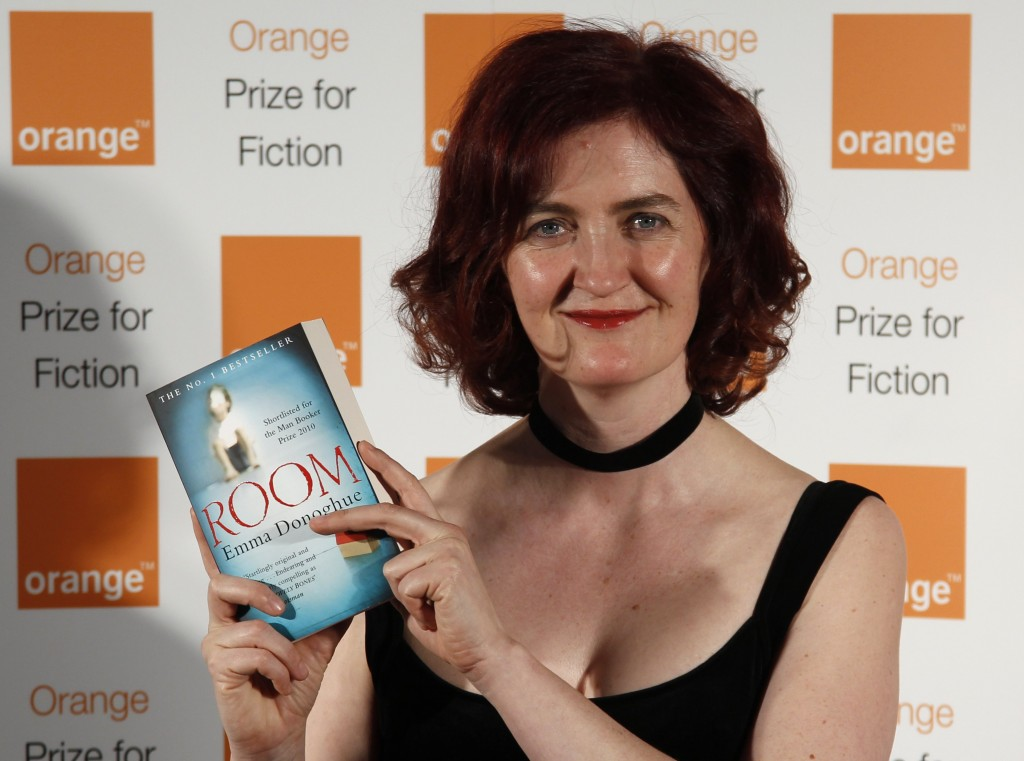 Emma Donoghue, shortlisted author for the 2011 Orange Prize for Fiction, poses with her novel Room at the Royal Festival Hall in London