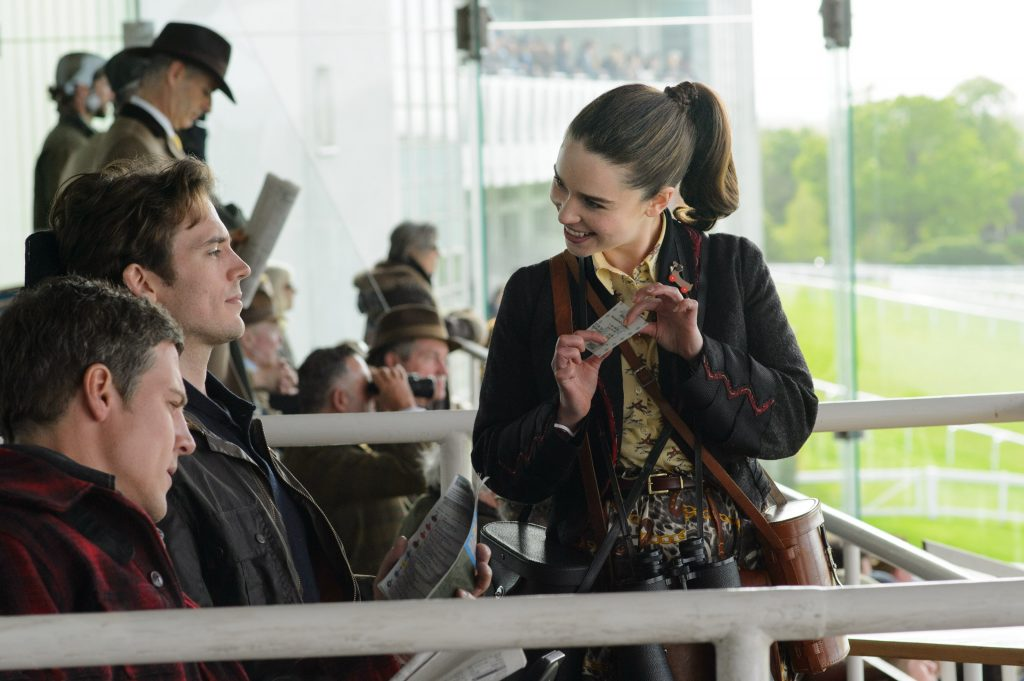 "(L-r) STEPHEN PEACOCKE as Nathan, SAM CLAFLIN as Will Traynor and EMILIA CLARKE as Lou Clark in New Line Cinema's and Metro-Goldwyn- Mayer Pictures' romantic drama ""ME BEFORE YOU,"" a Warner Bros. Pictures and Metro-Goldwyn- Mayer Pictures release. Photo by Alex Bailey"