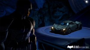Batman with the Batmobile in Batman - The Telltale Series