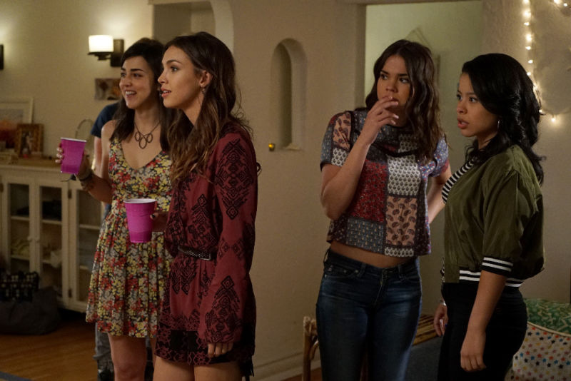 "THE FOSTERS - ""Now for Then"" - As Callie begins working on her senior project photographing her former foster homes, each visit brings new perspective on her past on an all-new episode of ""The Fosters,"" airing MONDAY, JULY 18 (8:00 - 9:00 p.m. EDT), on Freeform. (Freeform/Eric McCandless) CYRINA FIALLO, DENYSE TONTZ, MAIA MITCHELL, CIERRA RAMIREZ"