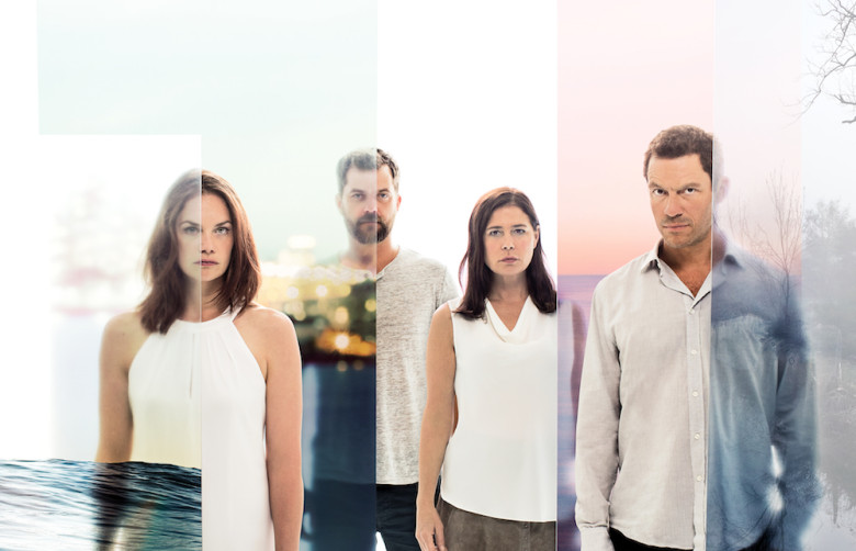 Ruth Wilson as Alison, Joshua Jackson as Cole, Maura Tierney as Helen and Dominic West as Noah Solloway in The Affair (season 3). - Photo: Steven Lippman/SHOWTIME