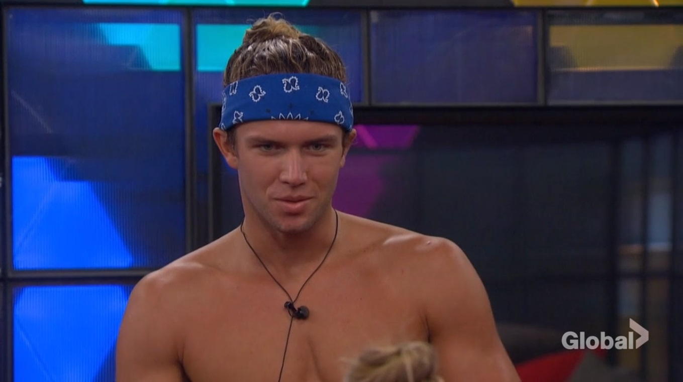 Tyler listening to Haleigh campaign on Big Brother 20