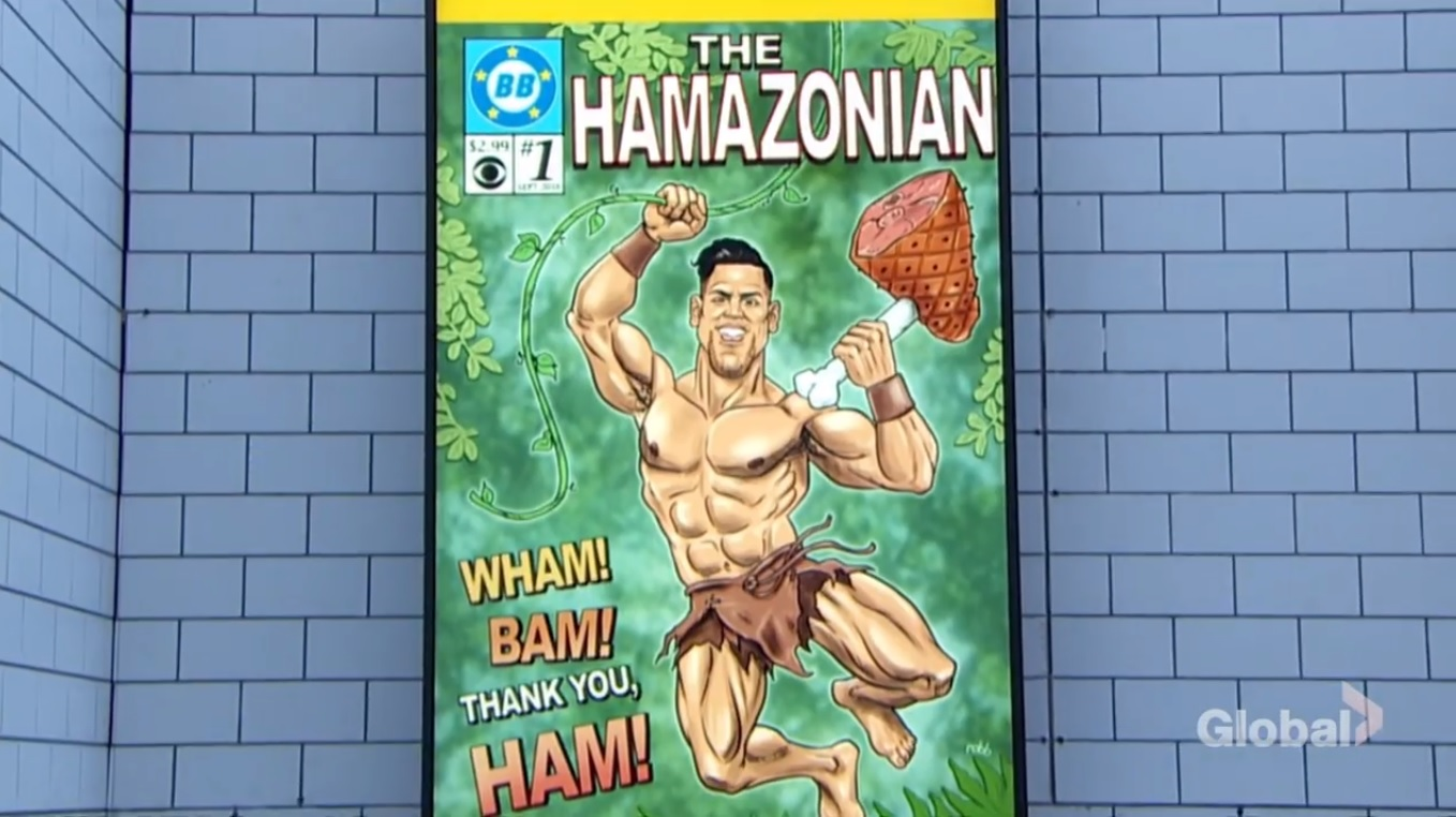 """Fessy's BB Comics cover of """" The Hamazonian"""" on Big Brother 20"""