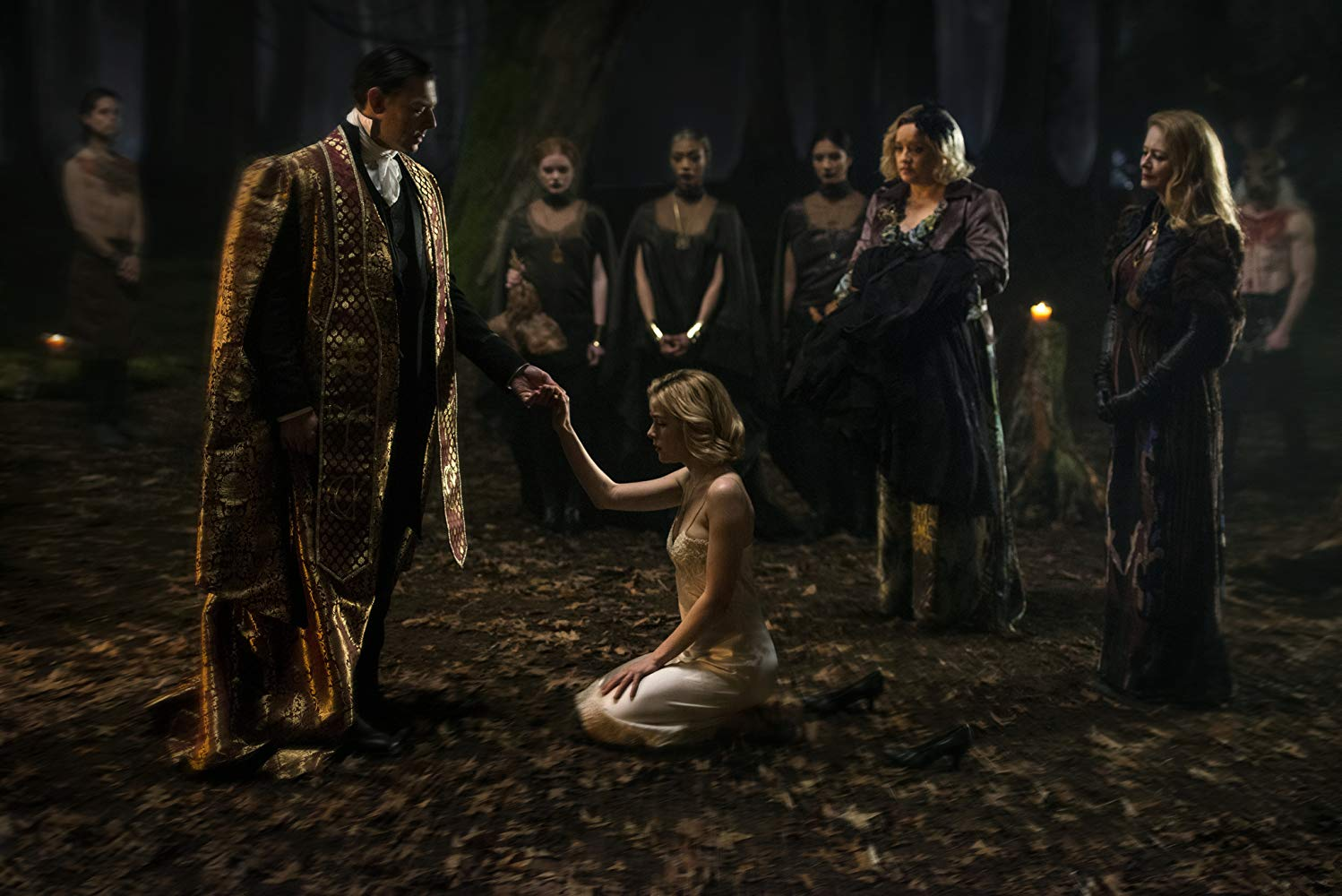 Sabrina getting ready for the Dark Baptism on The Chilling Adventures of Sabrina