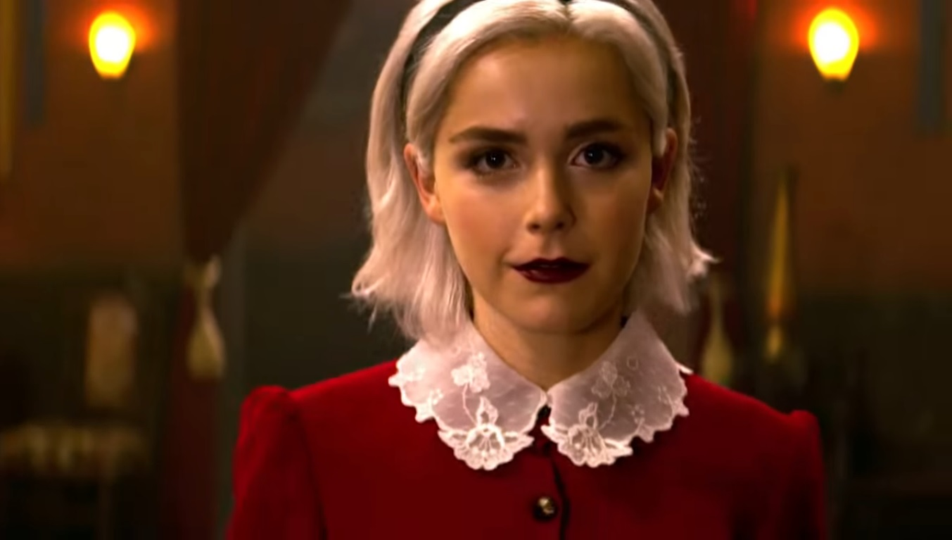 Sabrina with white hair on The Chilling Adventures of Sabrina