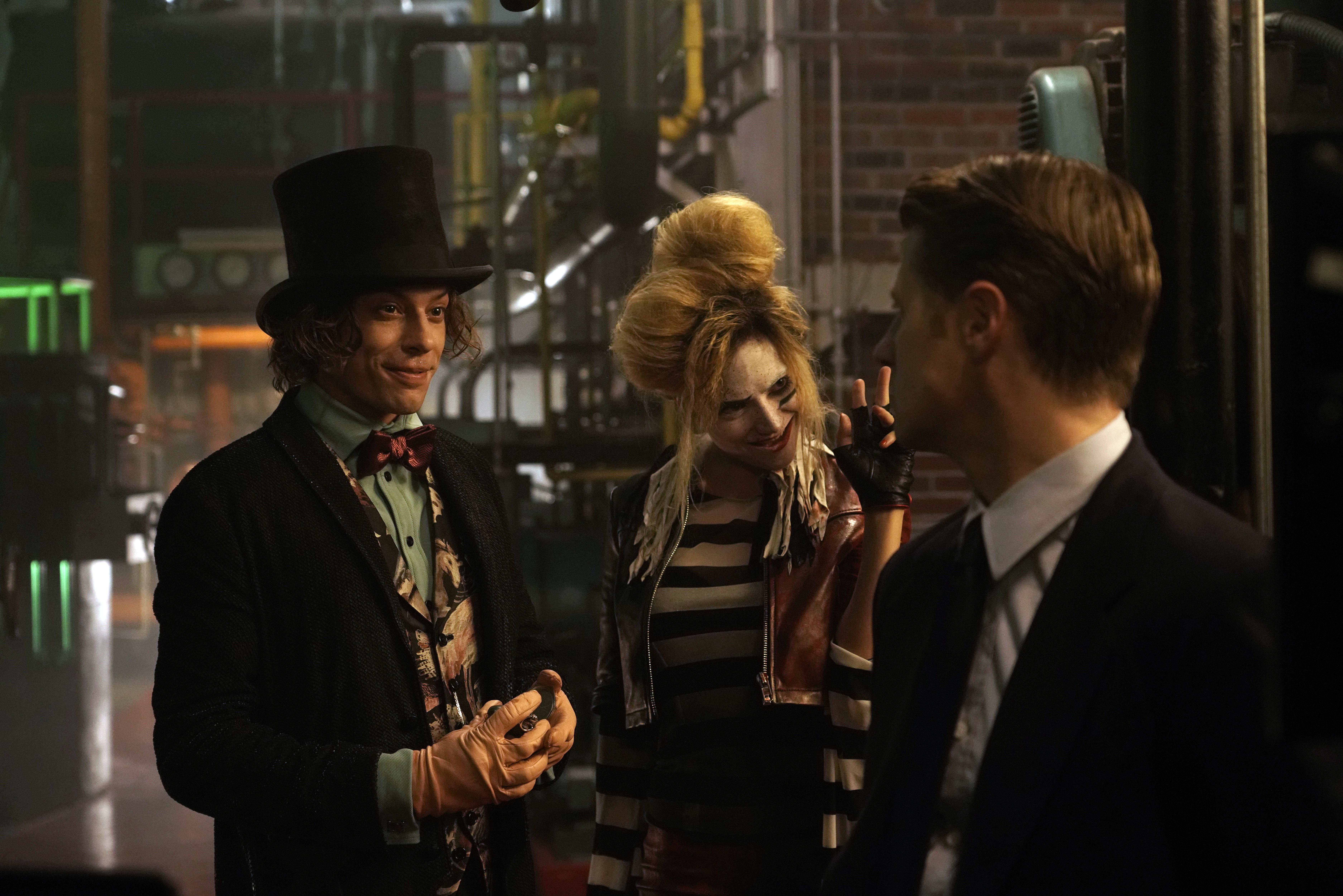 Mad Hatter and Ecco/Mummer toying with James Gordon on Gotham