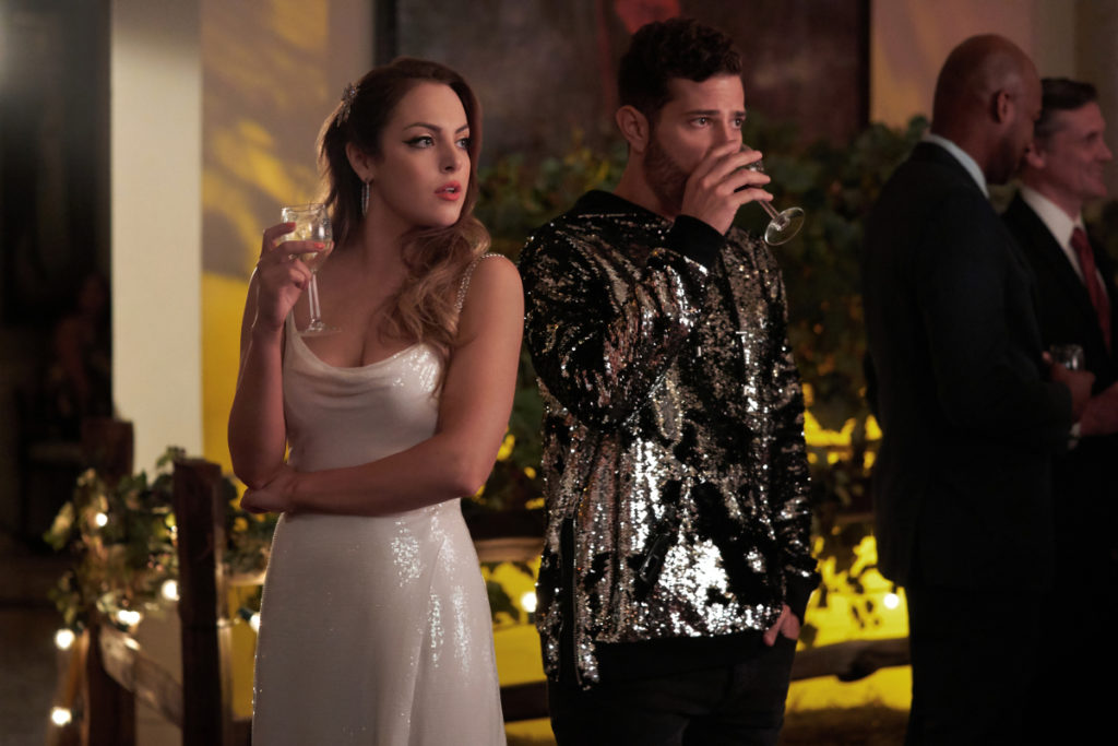 Fallon and Sam at the wine-tasting event on Dynasty