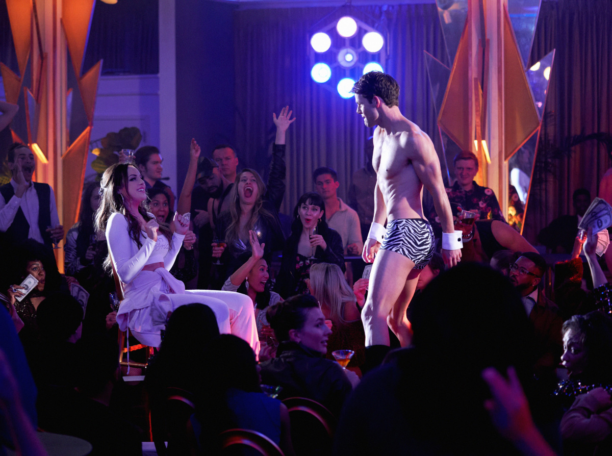 Fallon getting a lapdance from Scorpio/Ryan on Dynasty