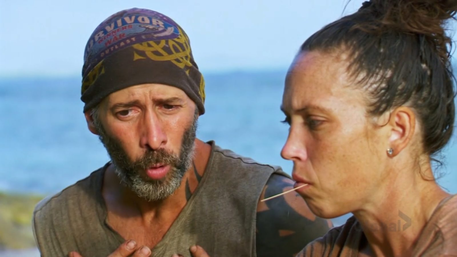 Tony and Sarah debating Natalie's idol on Survivor: Winners at War