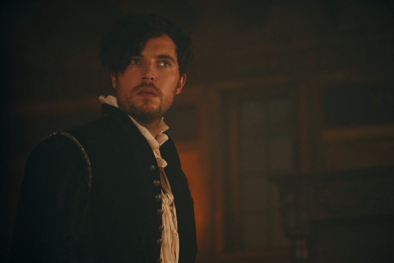 Tom Hughes as Kit Marlowe in A Discovery of Witches season 2 premiere