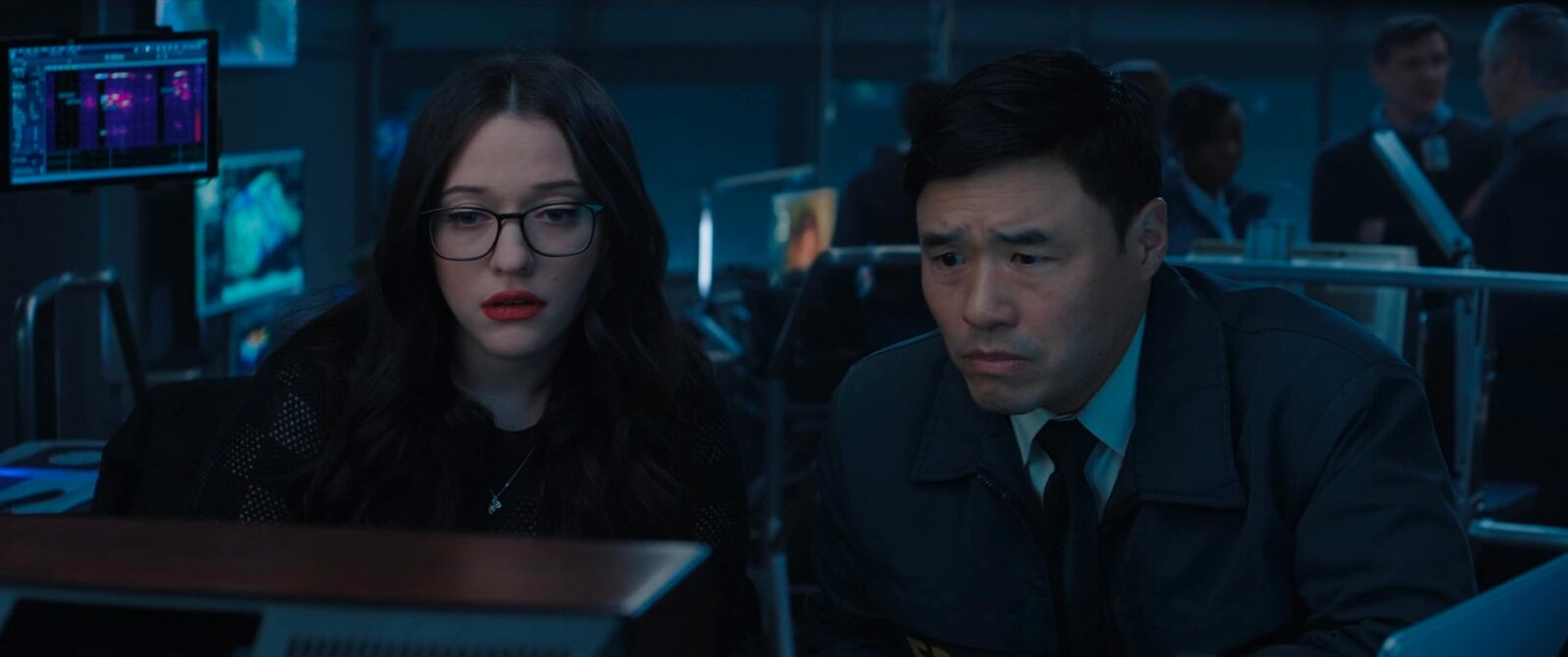 Darcy Lewis and Agent Woo in Wandavision.