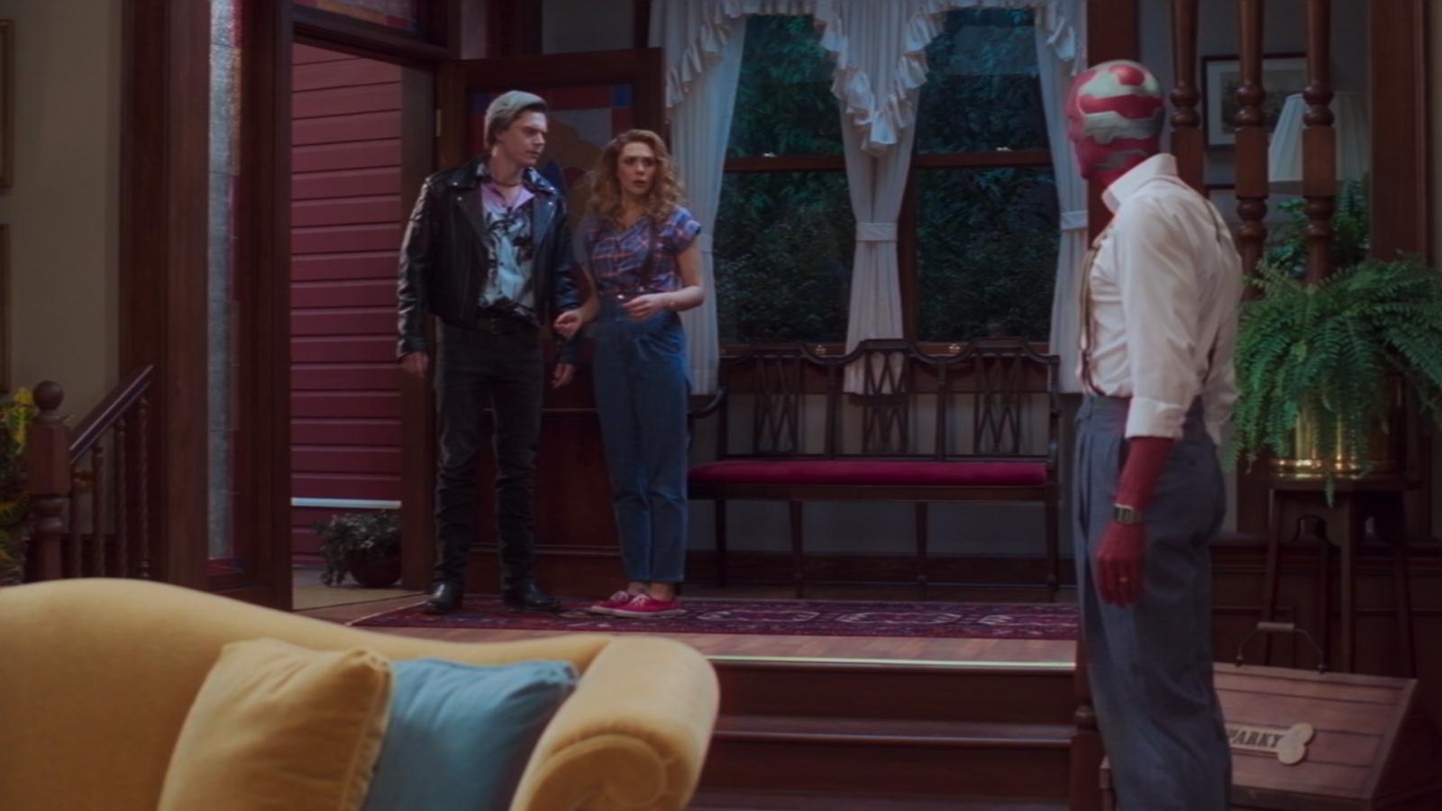 Quicksilver arrives at Wanda's door in Wandavision.