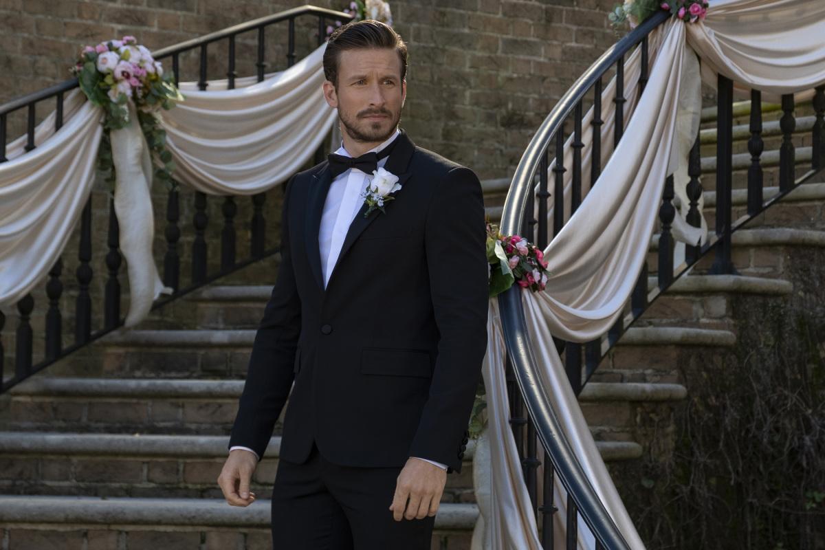 Liam on his wedding day on Dynasty