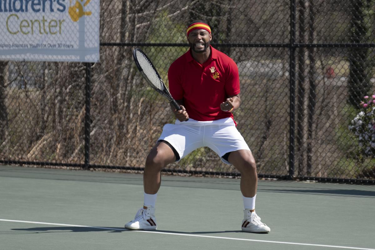 Michael Culhane playing tennis Dynasty