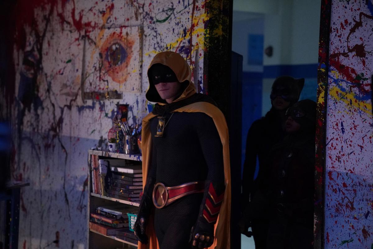 Hourman entering the art room on DC's Stargirl